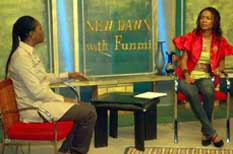 On The Set of New Dawn With Funmi Iyanda Topic: Children With Special Needs.